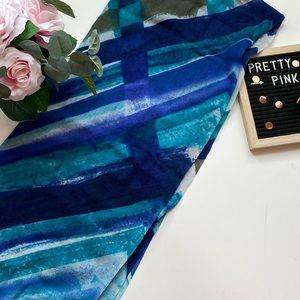 4/$15 Abstract watercolour painted scarf